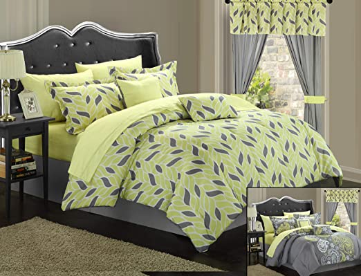 Chic Home Olivia Paisley Print 20 Piece Mega Comforter Bed In A Bag Set