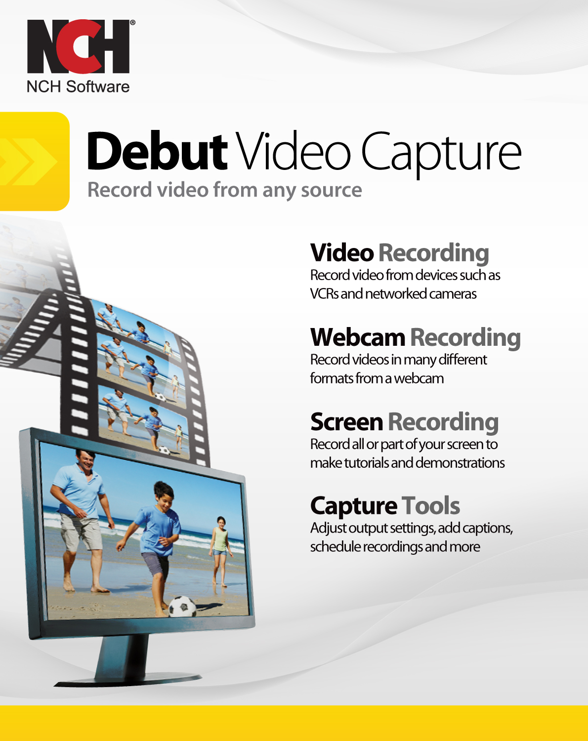 Debut Video Capture Software to Record from a Webcam, Computer Screen or Device [Download] by NCH Software