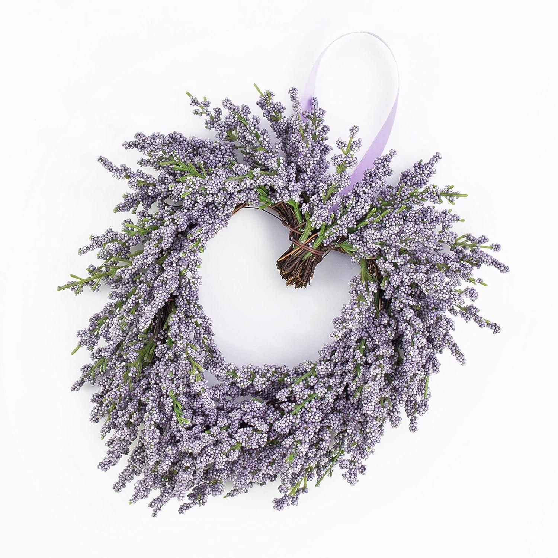 Cuore di lavanda artificiale, viola, Ø 20 cm - Ghirlanda artificiale / Cuore decorativo - artplants