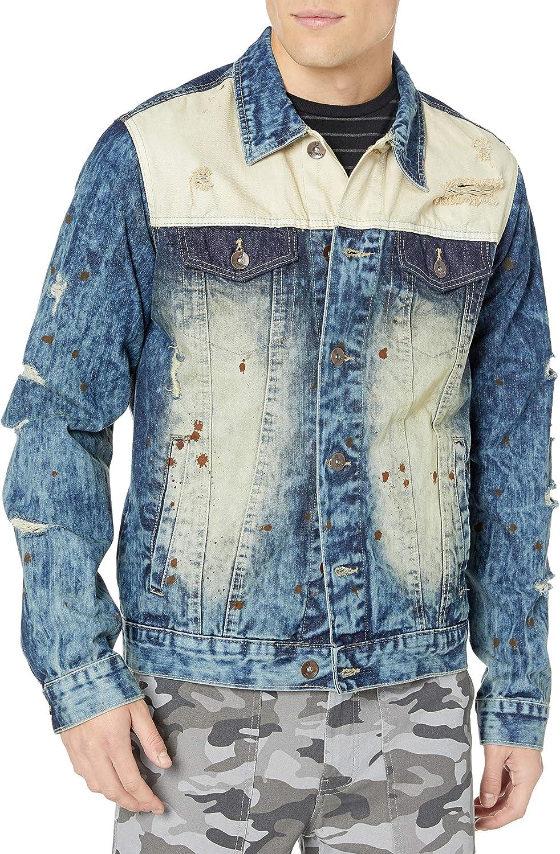 Southpole mens Premium Fashion Denim Jacket Denim Jacket
