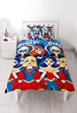 DC Super Hero Girls UK Single/US Twin Duvet Cover and Pillowcase Set