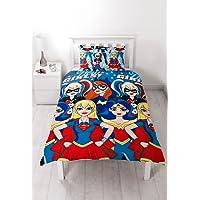 DC Superheroes Niñas 'Super' Juego de Cama–diseño de impresión de repetitivo