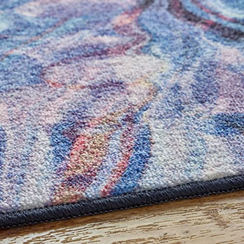 Mohawk Home Prismatic Florentine Paper Multicolored Abstract Marble Precision Printed Area Rug