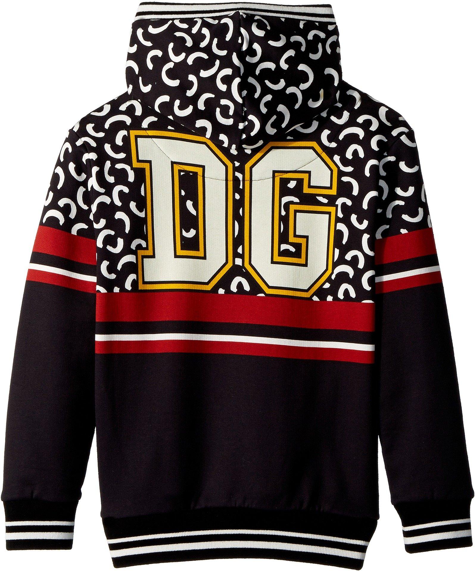 Dolce & Gabbana Kids Boy's King Of hearts Hooded Sweatshirt (Little Kids) Black 5 by Dolce & Gabbana (Image #2)
