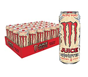 Juice Monster Pacific Punch, Energy + Juice, Energy Drink, 16 Ounce (Pack of 24)