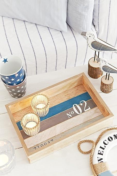 Amazonde Heitmann Deco Holz Tablett Maritim Tolle Tischdeko