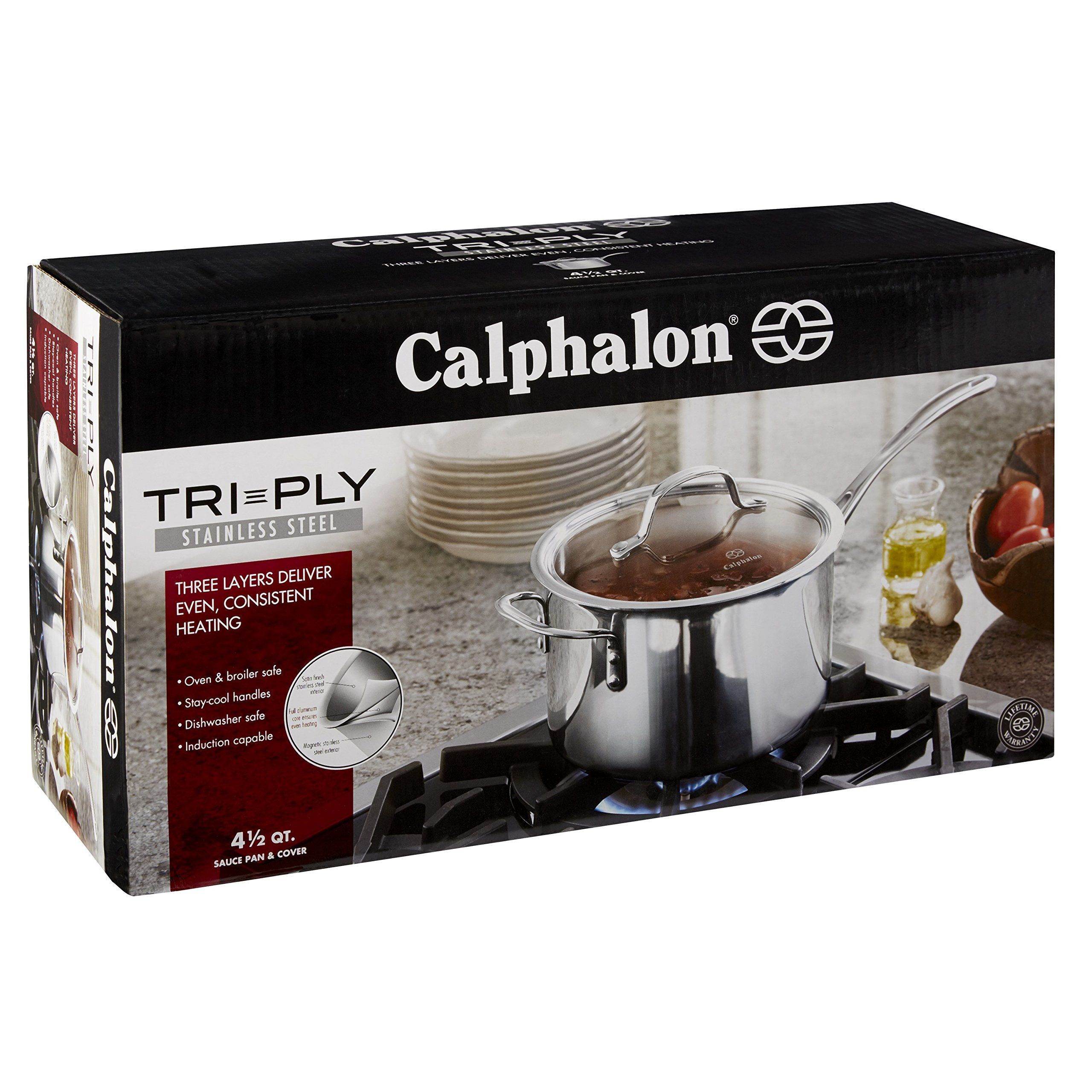 Calphalon Tri-Ply Stainless Steel 4-1/2-Quart Sauce Pan with Cover by Calphalon (Image #6)