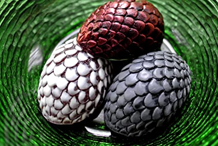 DRAGON EGG SILICONE MOLD SOAP WAX PLASTER RESIN CLAY