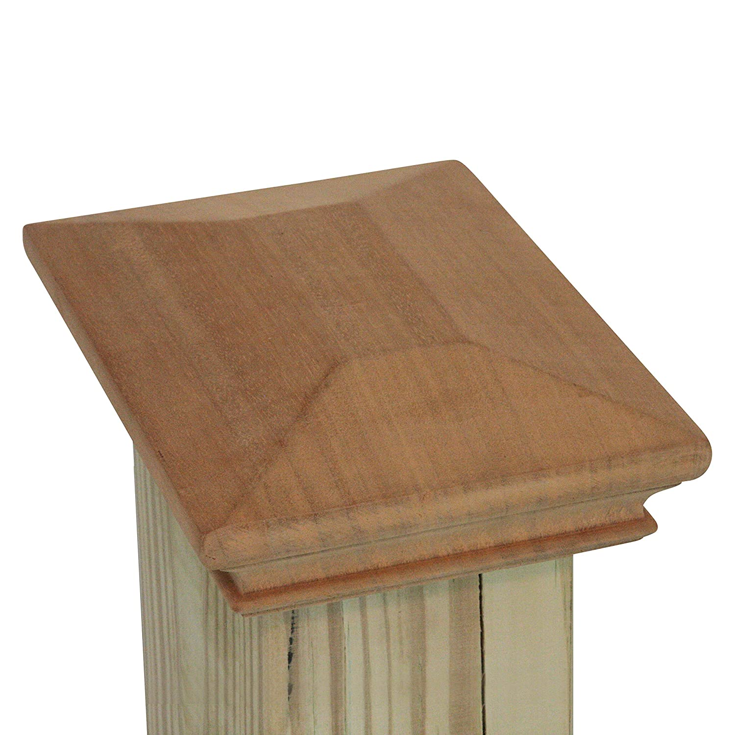 Captiva 4x6 Wood Pyramid Post Cap by One-Piece Miterless 3//8 Extended Lip 4 x 6