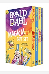 Roald Dahl Magical Gift Set (4 Books): Charlie and the Chocolate Factory, James and the Giant Peach, Fantastic Mr. Fox, Charlie and the Great Glass Elevator Paperback