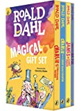 Roald Dahl Magical Gift Set (4 Books): Charlie and the Chocolate Factory, James and the Giant Peach, Fantastic Mr. Fox…