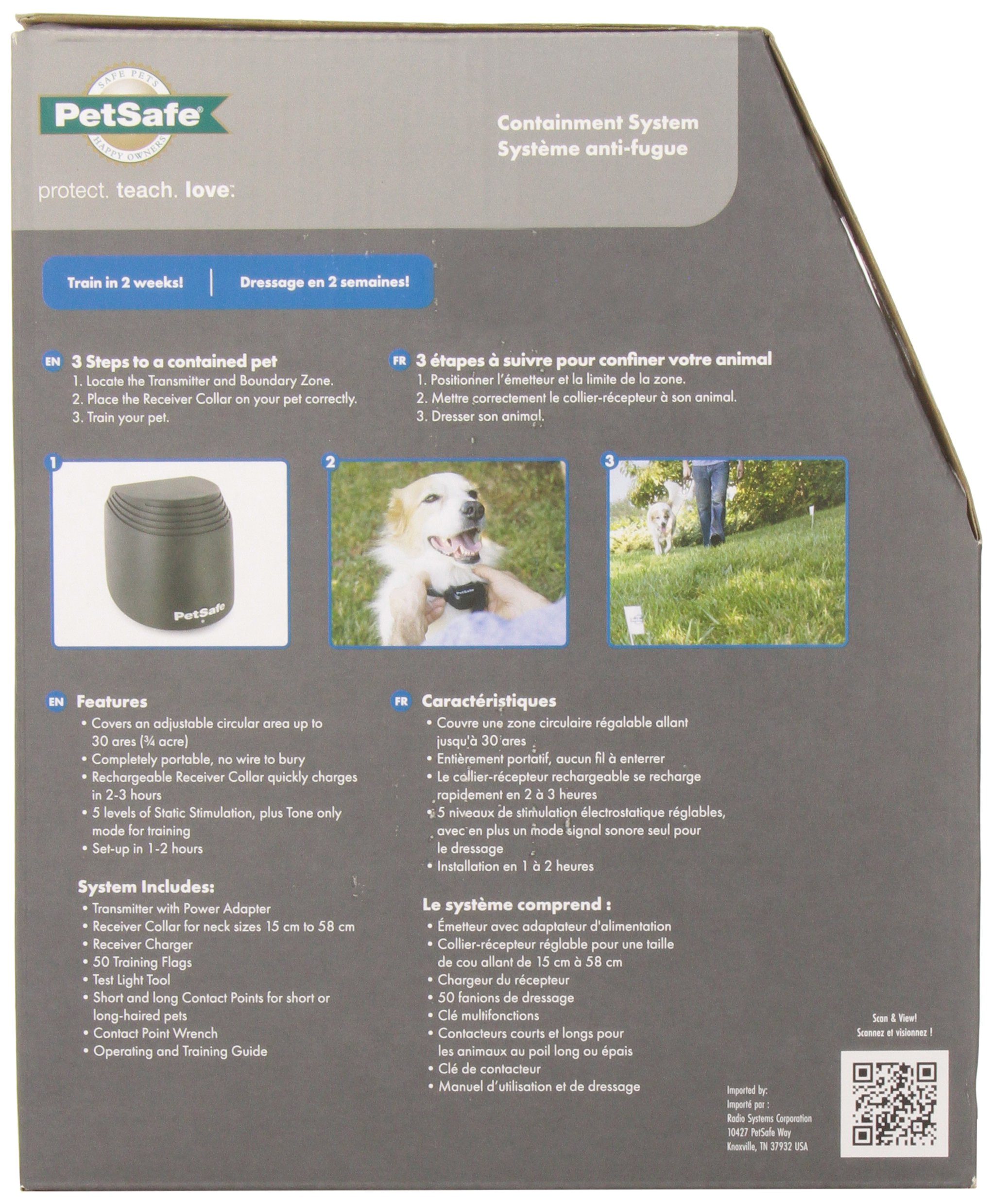 Petsafe PIF17-13478 Stay & Play Wireless Fence Dog Pet Containment Safety System