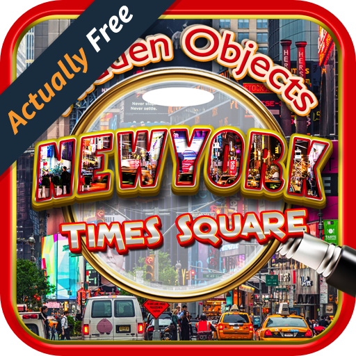 Hidden Objects Times Square New York City - Difference, Time, Object, and Photo Hunter Games - Kids Broadway Free