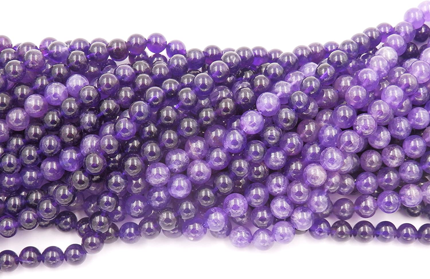 Gemstone Beads for Jewelry Making Amethyst, 6mm Sold per Bag 5 Strands Inside