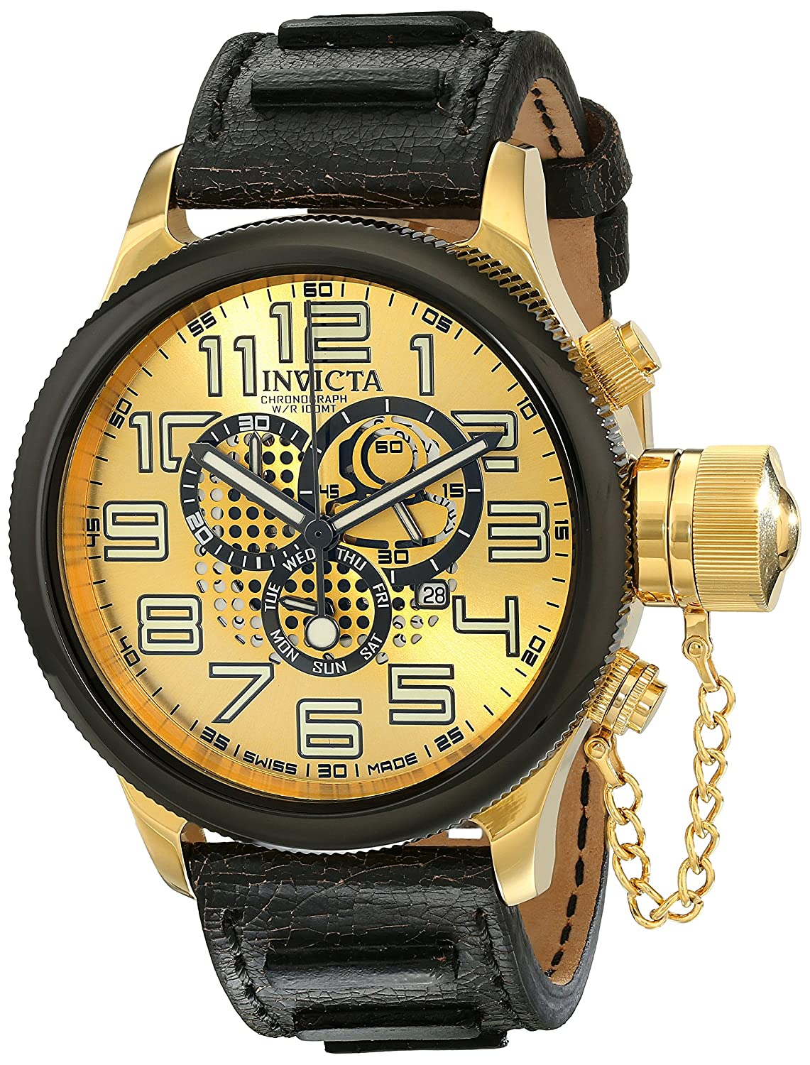 Invicta Men s 14616 Russian Diver Analog Display Swiss Quartz Black Watch