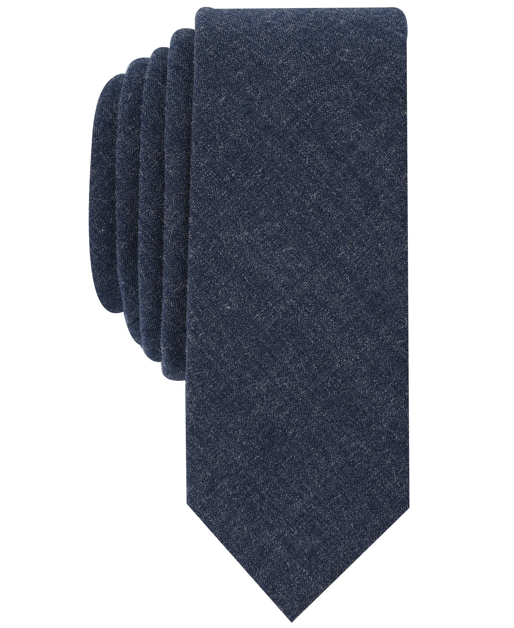 Original Penguin Men's Pique Solid Tie, Indigo, One Size