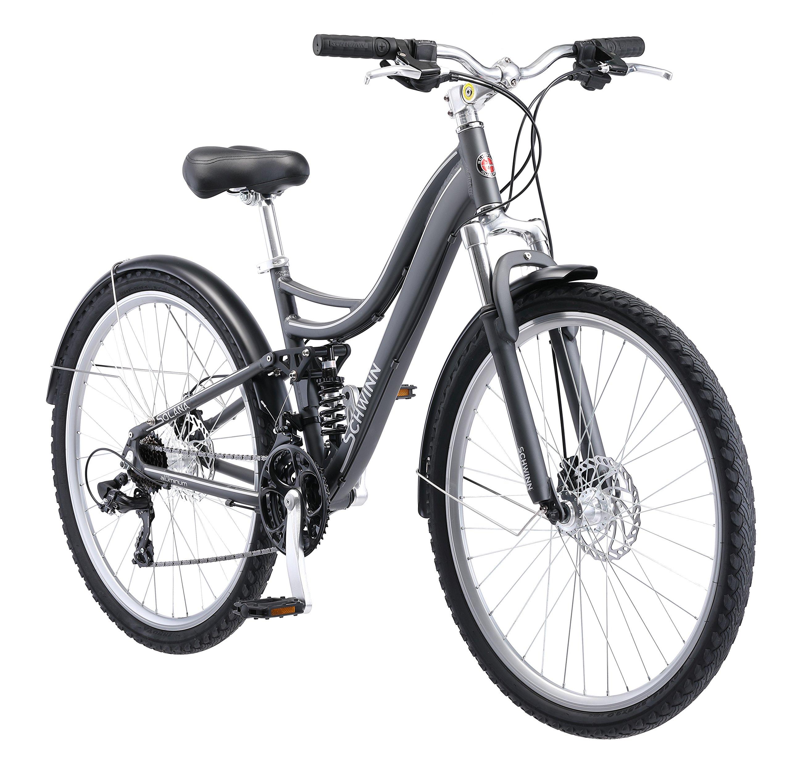 Schwinn Solana Urban Comfort 27.5'' Wheel Bicycle, Dark Grey, 16''/One Size