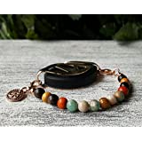 Grounding Earth Mala Bracelet - Bellabeat Leaf