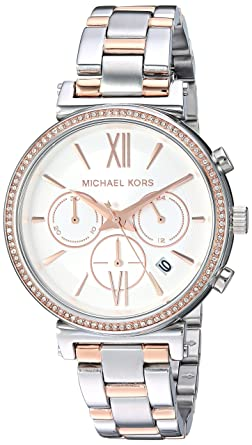 dcafa3b2b Michael Kors Women's Sofie Analog Display Analog Quartz Rose Gold Watch  MK6558
