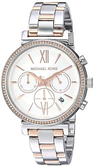 Michael Kors Reloj Analogico para Mujer de Cuarzo con Correa en Acero Inoxidable MK6558: Amazon.es: Relojes