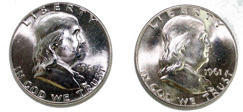 1961 Franklin Half Dollar 90/% Silver About Uncirculated AU