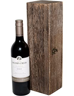 Wooden Wine Box Holder Case 1/2/3 Bottle/s Two Colors Plain