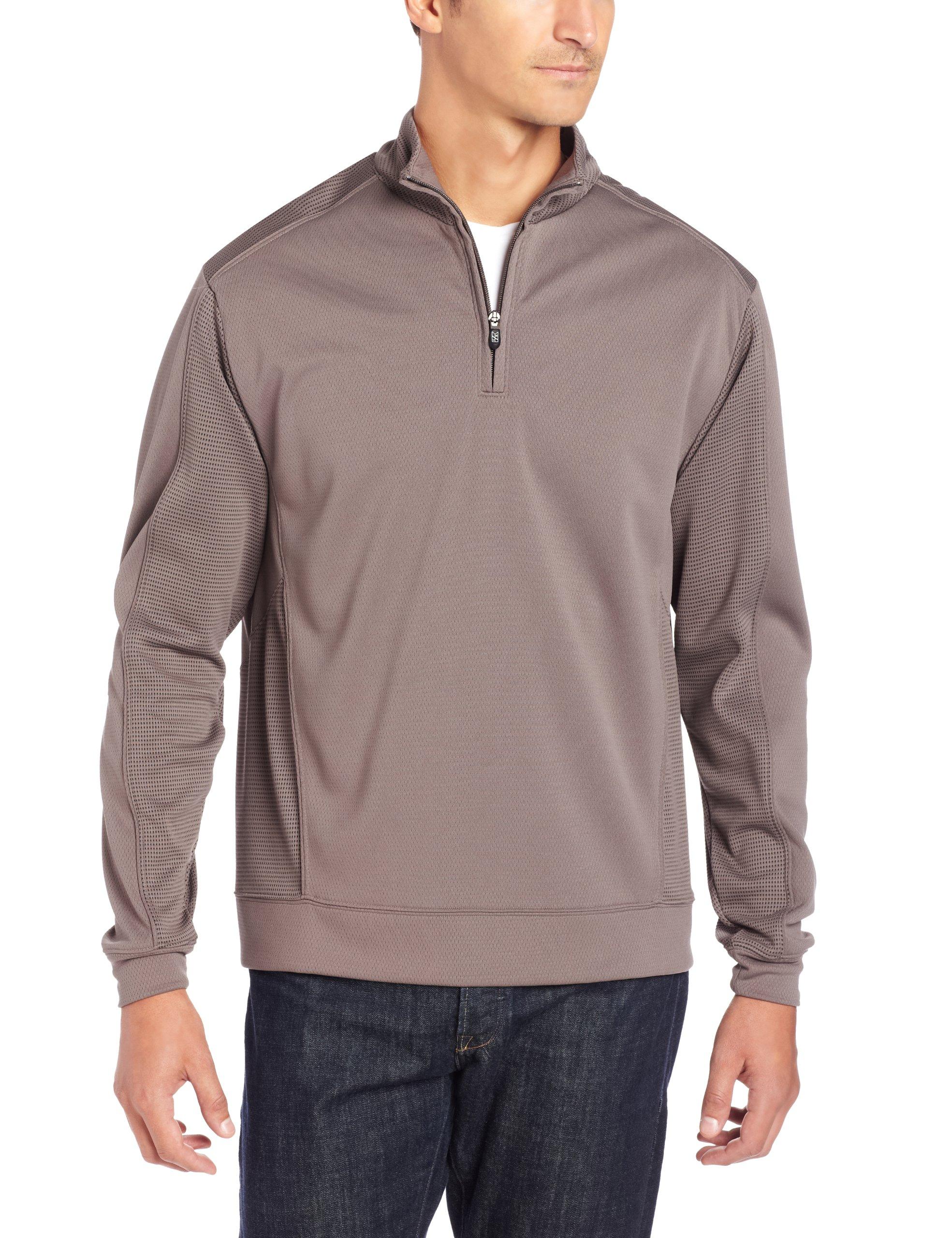 Cutter & Buck Men's CB Drytec Edge Half Zip Sweatshirt, Circuit, 3X-Large