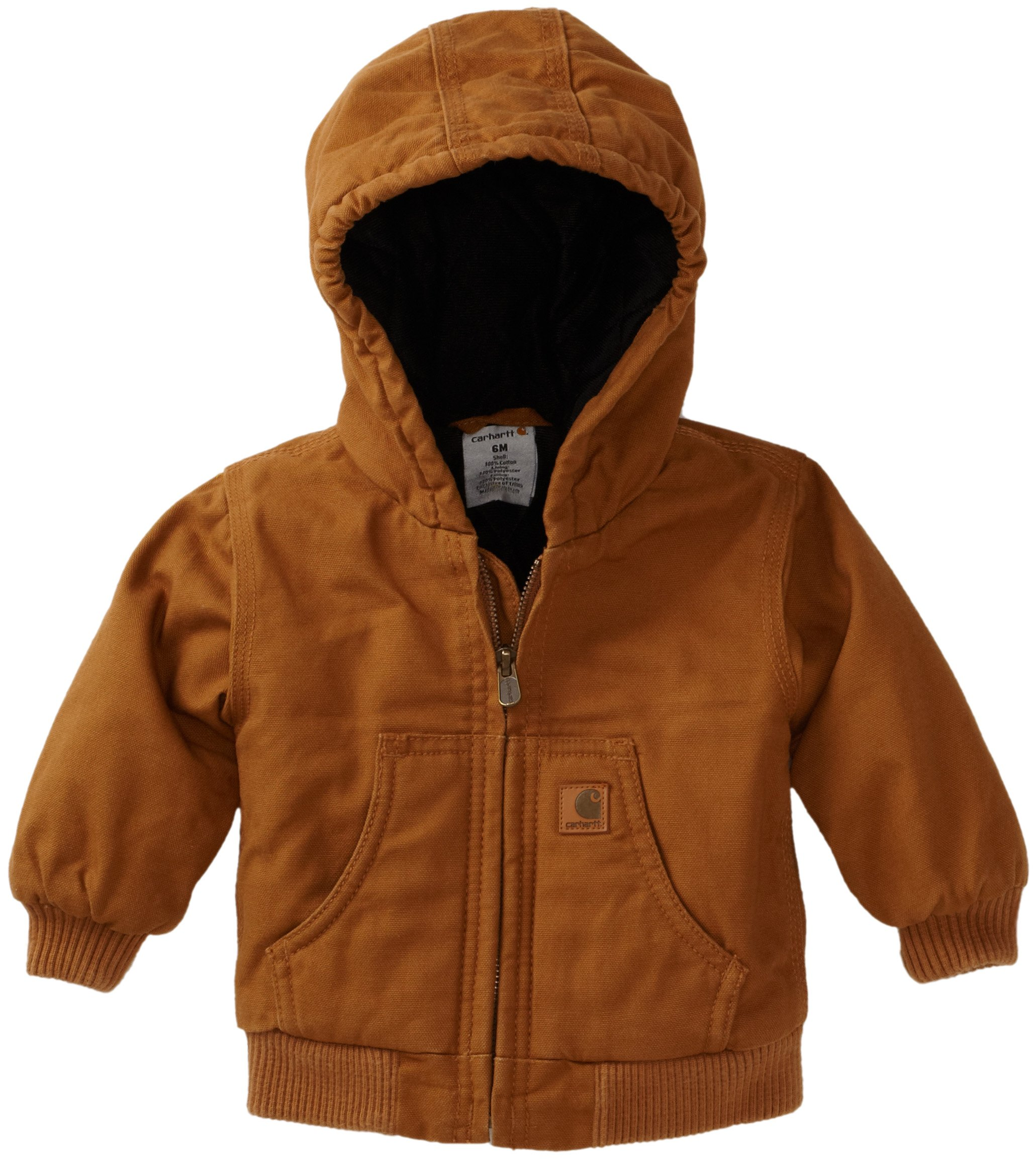 Carhartt Baby-boys Infant Active Quilted Flannel Lined Jacket, Carhartt Brown, 6 Months by Carhartt