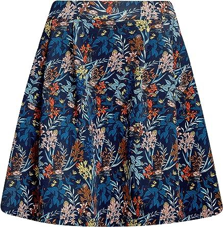 oodji Ultra Mujer Falda de Punto con Pliegues: Amazon.es: Ropa y ...