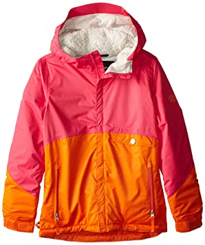 6e45d75190fb 686 Girls Wendy Insulated Jacket 2016 Coral Colourblock  Amazon.co ...