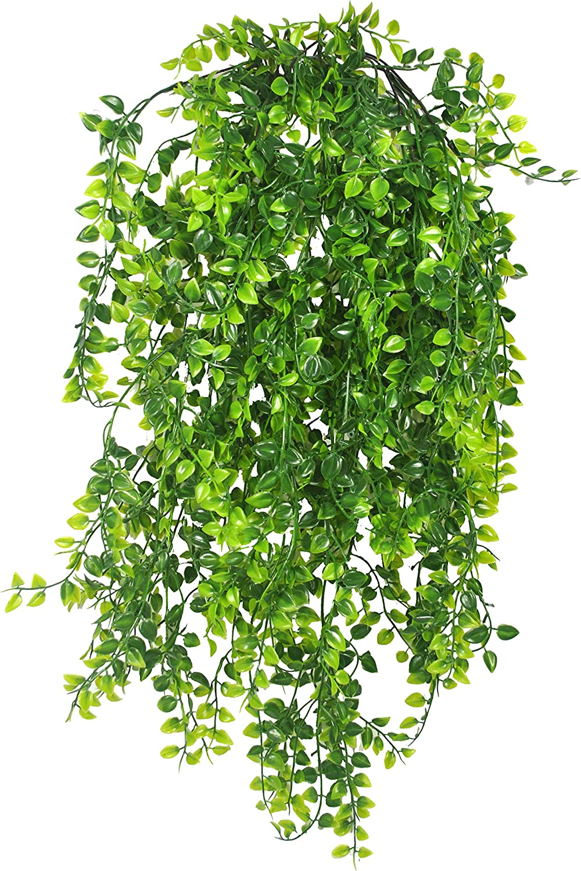 Warmter 2 Pcs Artificial Ivy Fake Hanging Vine Plants Persian Rattan Hanging Plant Plastic Plant Green Decor for Decor