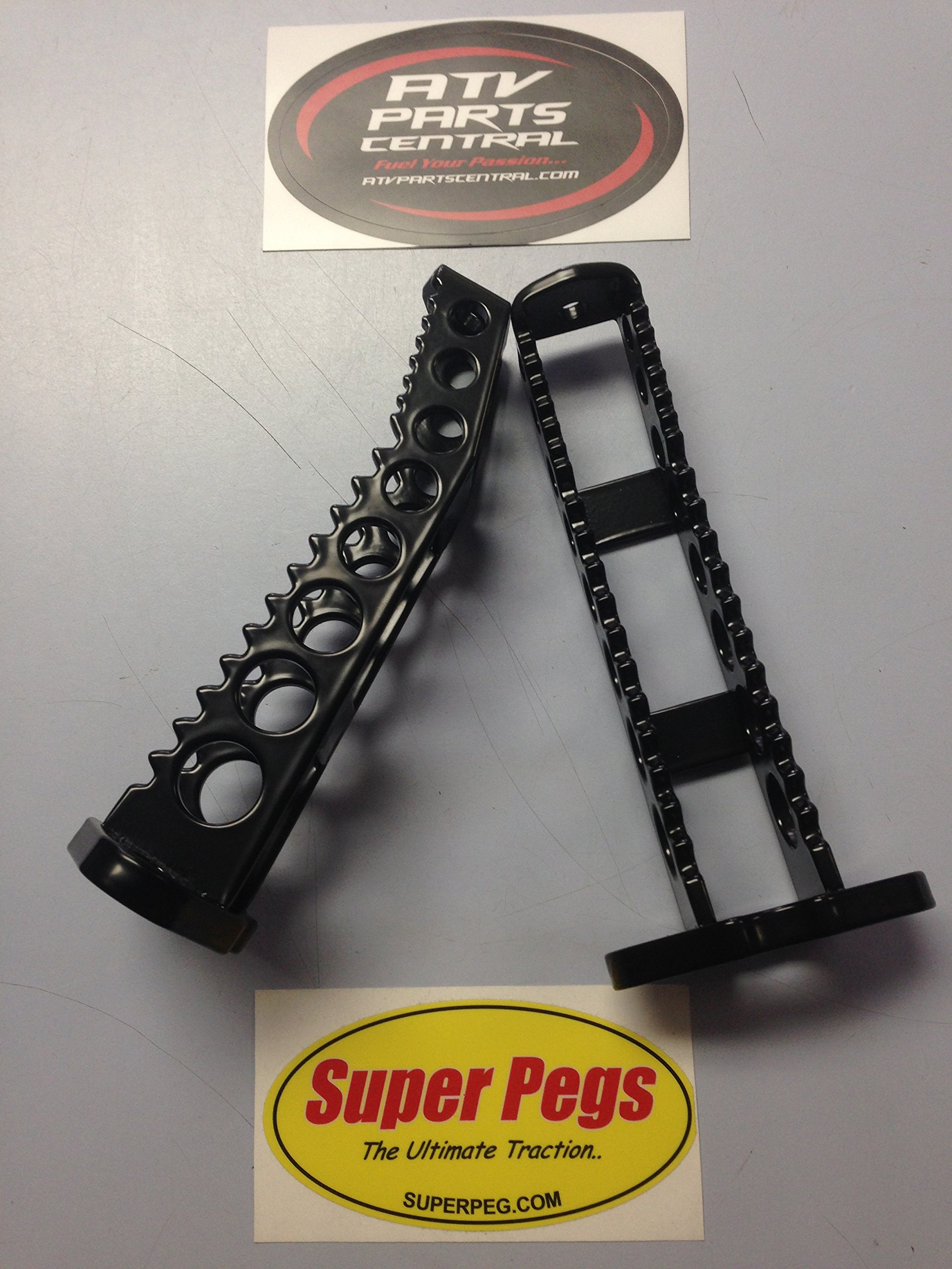 Superpegs Banshee Foot Pegs Super Sport Semi Gloss Black Drag Racing