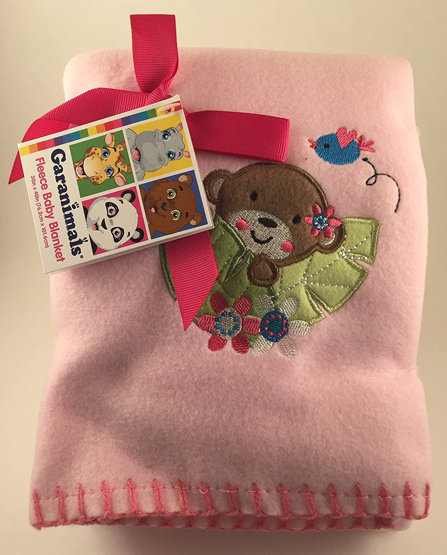 Garanimals Fleece Baby Blanket (Pink) by Garanimals   B010N1AAEG
