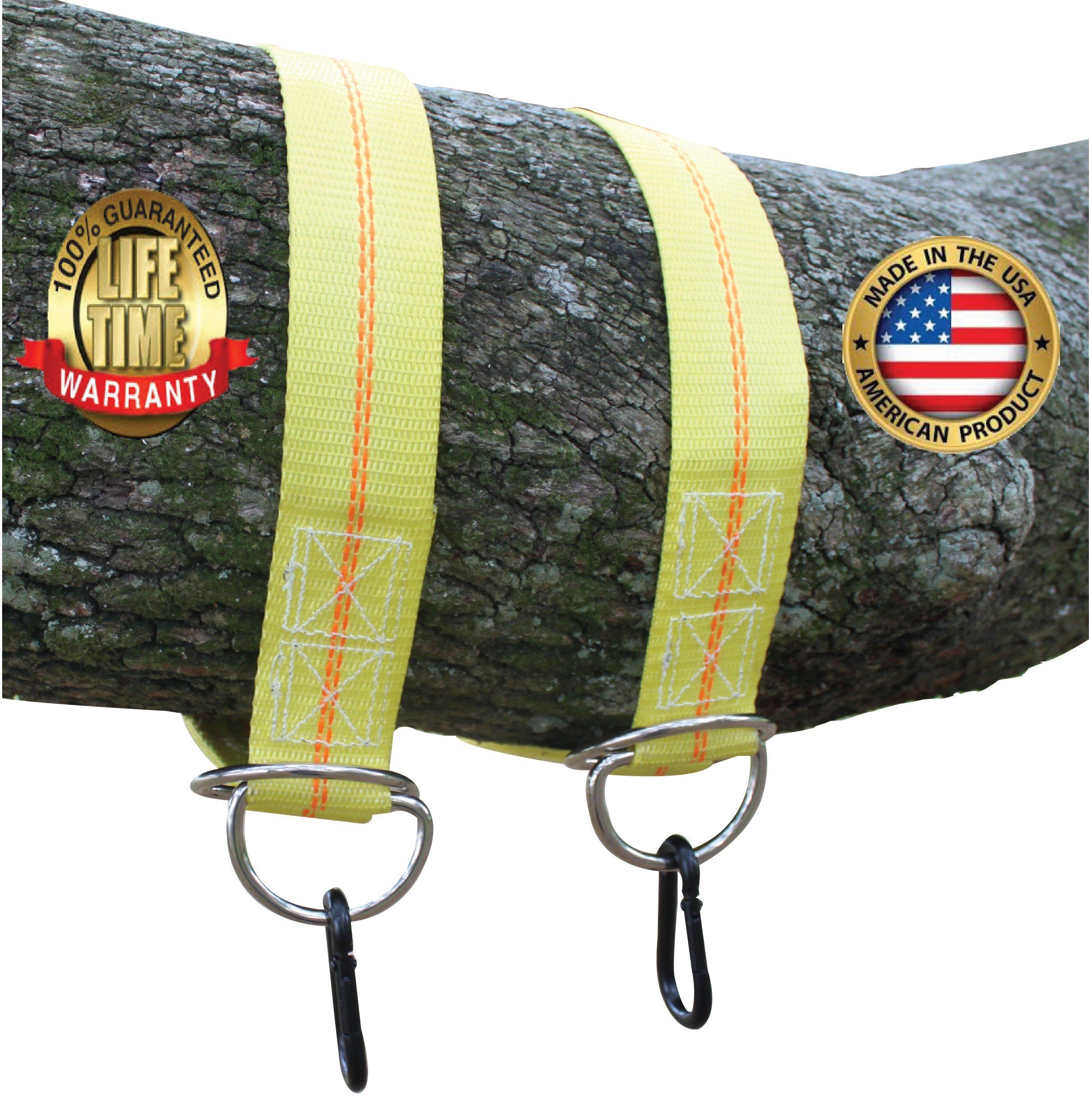 Safe-T-Swing - Heavy Duty 12,000 lb. Webbing - Tree Swing Hanging Kit - Made in USA (36 Inch)