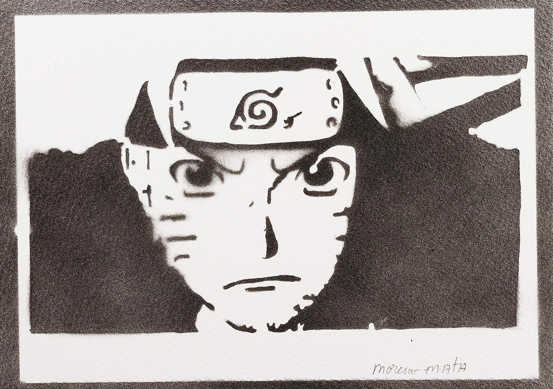 Póster Naruto Grafiti Hecho A Mano - Handmade Street Art ...