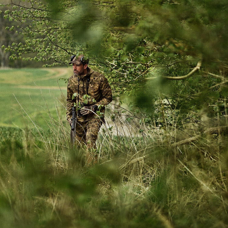 camuflaje impermeable Chaqueta de caza ligera y silenciosa para hombre chaqueta de caza con partes el/ásticas Camo AXIS MSP/® Lagan