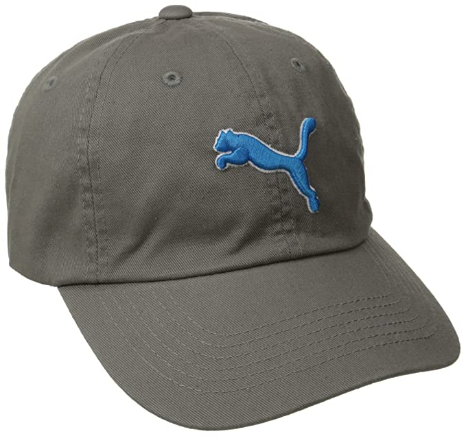 PUMA Mens Icon Adjustable Relaxed Fit Cap, Gray, One Size
