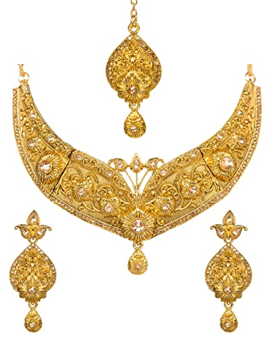 Bollywood Indian Bridal Designer Kundan Chokar Set Jewellery Set With Earrings Jewelry Sets Fashion Jewelry