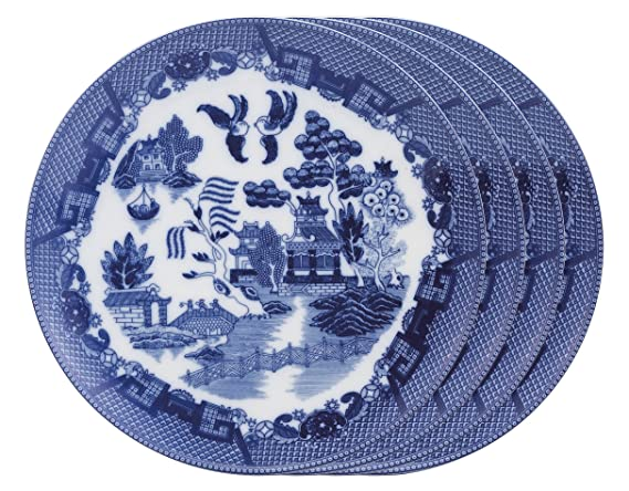 Willow Dinner Plates Hic Blue Porcelain Dinner Plates  sc 1 st  Amazon.com & Amazon.com | HIC Harold Import Co. Willow Dinner Plates: Hic Blue ...