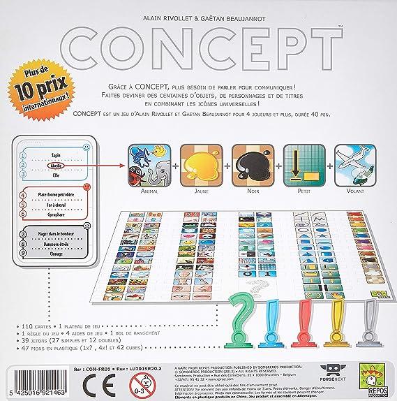 Repos Production - Juego de cartas Concept (CONFR01) (versión en ...