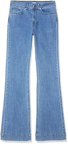 Marca Amazon - find. High Rise_amz090103 - Flared Jeans Mujer
