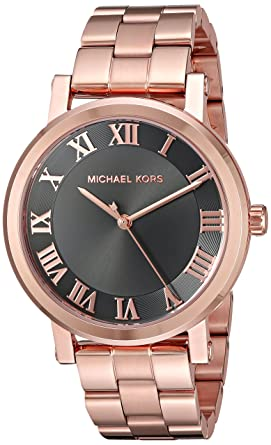 87bfd21ad378 Amazon.com  Michael Kors Women s Norie Rose Gold-Tone Watch MK3585 ...