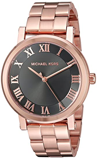 Amazon.com: Michael Kors Womens Norie Rose Gold-Tone Watch MK3585: Michael Kors: Watches