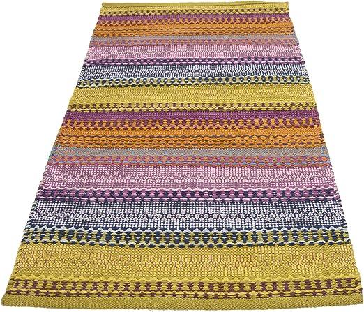accordeco 23298 – Alfombra Senegal, multicolor 140 x 200 cm – 100 ...
