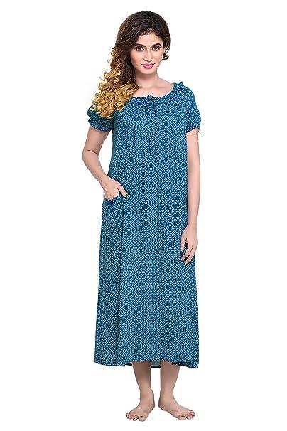 5c642aaac351 PDPM Women s Short Rayon Nighty Nightwear   Night Dress Sleepwear ...