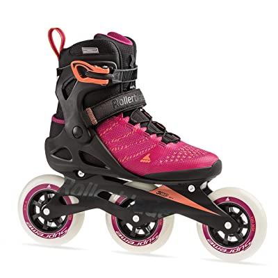 Rollerblade Macroblade 110 3WD Womens Adult Fitness Inline Skate, Raspberry and Mango, Performance Inline Skates : Sports & Outdoors