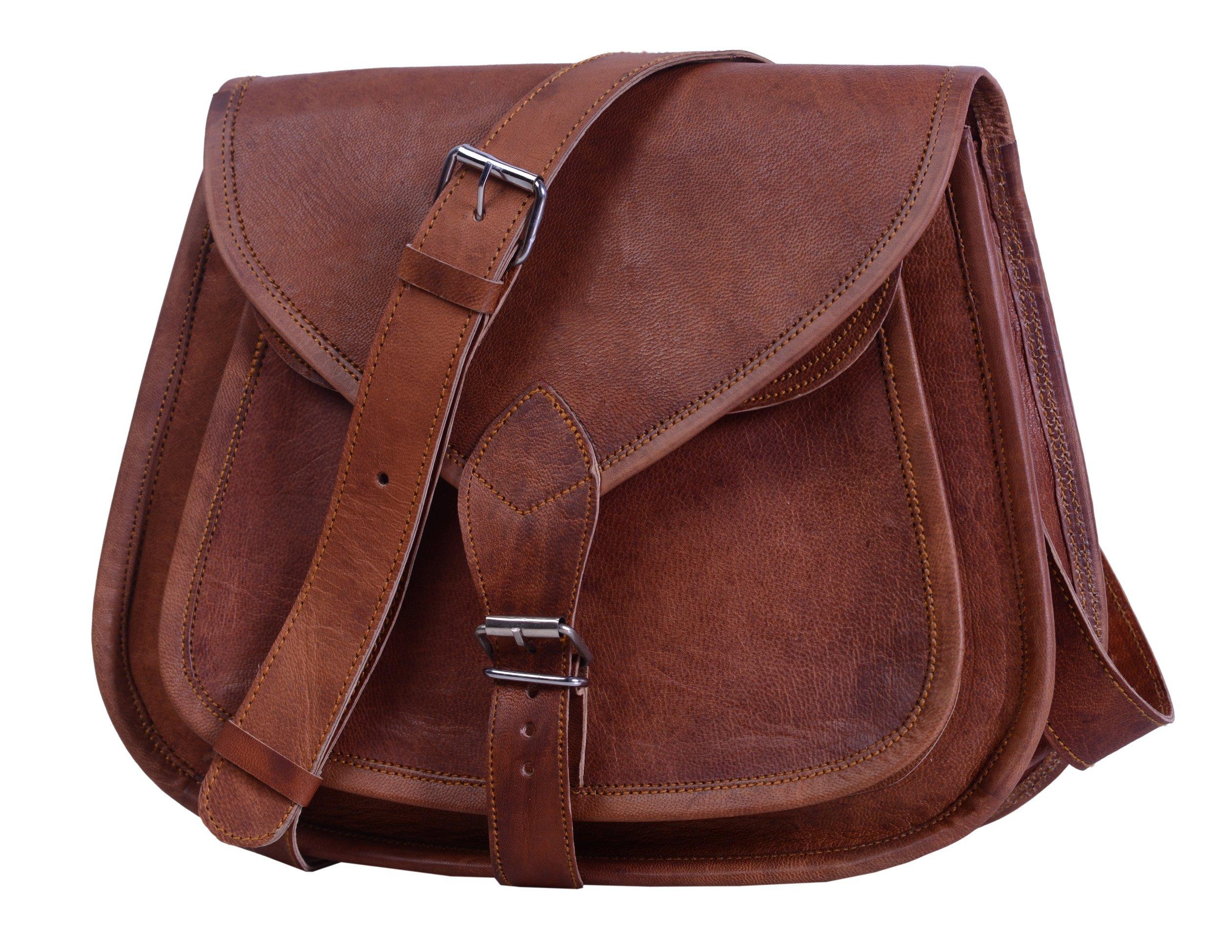 Komal's Passion Leather 12'' Leather Purse Satchel