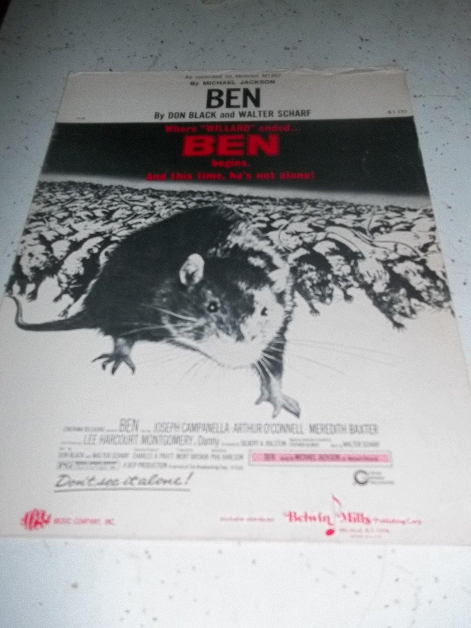Amazon com: BEN - As Recorded by Michael Jackson, MOVIE