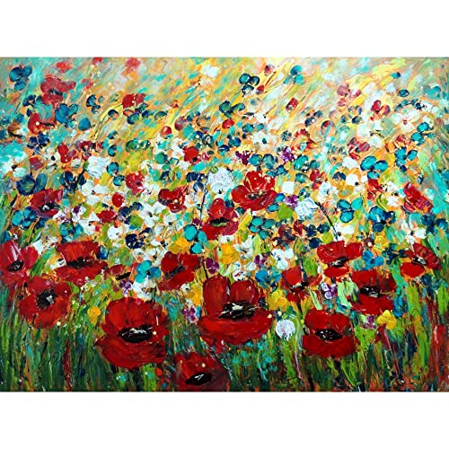 Amazon large flowers painting poppies tulips wildflowers large flowers painting poppies tulips wildflowers snowdrops abstract artwork 48x36 ready to ship mightylinksfo