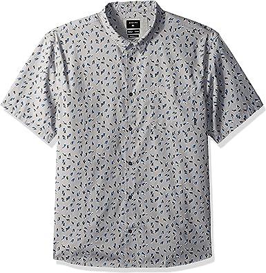 Quiksilver Hombre EQYWT03698 Manga Corta Camisa de Botones: Amazon.es: Ropa y accesorios